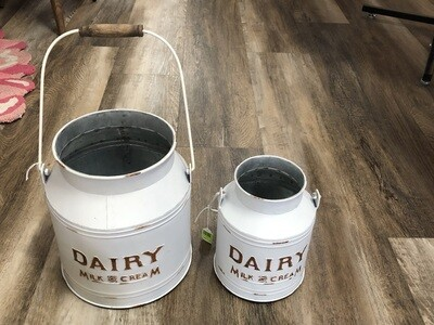 White Dairy Bucket
