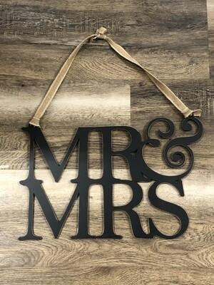 Mr Mrs Hanger Cutout