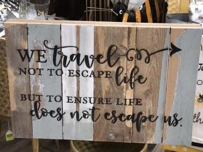 We Travel.....