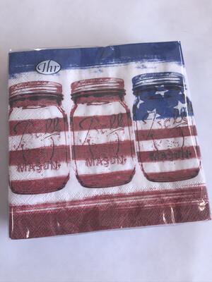 Patriotic Glass Jars