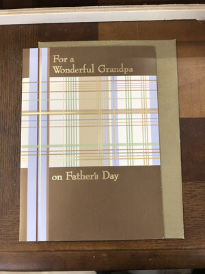 Grandpa Father's Day Card 3.50