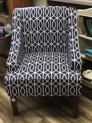 Navy Deco Chair
