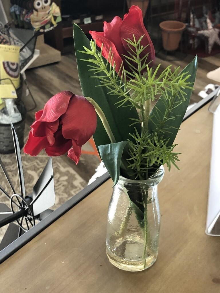 Red Tulip Glass