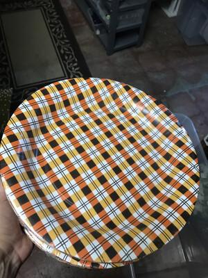 """10.5"""" Plaid Plates"""