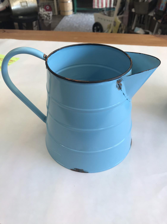 Tin Blue Pitcher