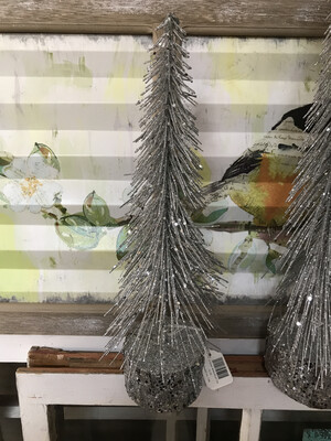 Sm Glitter Bottle Brush Tree