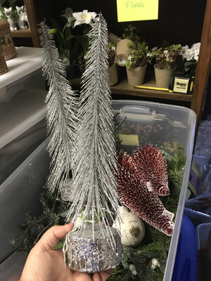 Md Glitter Bottle Brush Tree