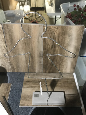 LED Wire Statue w\Cement Base