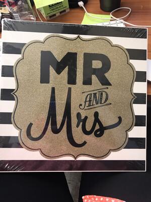 Glitter Mr and Mrs