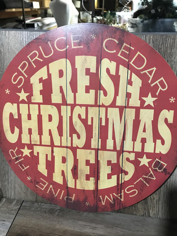 Fresh Trees Sign