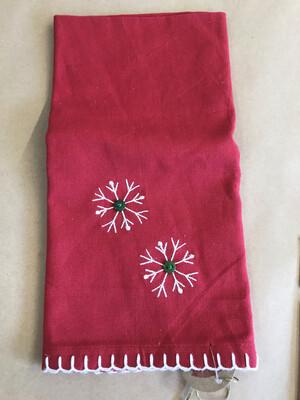 Red Snowflake Towel