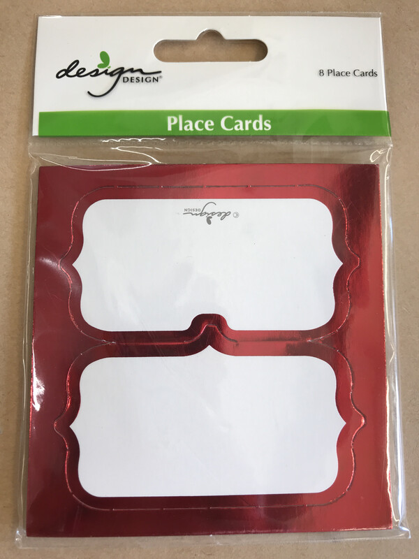 Red Foil Placecards