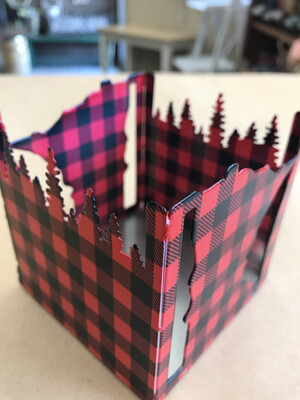 Lumberjack Candle Holder