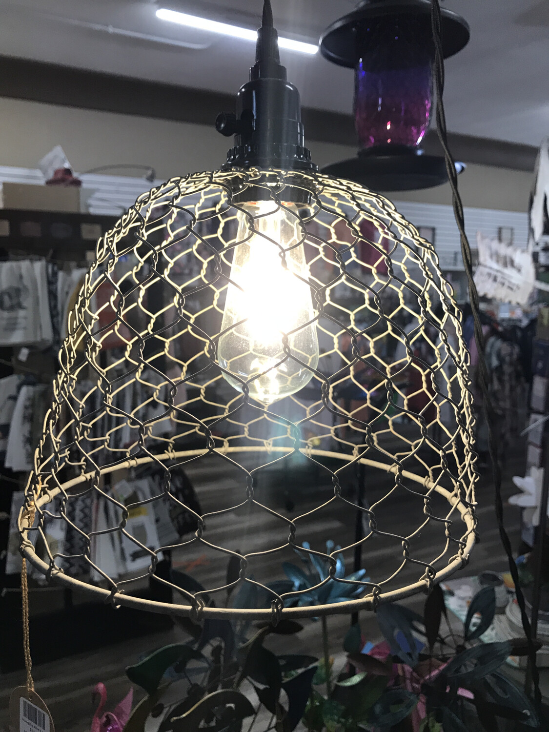Hanging Wire Lamp