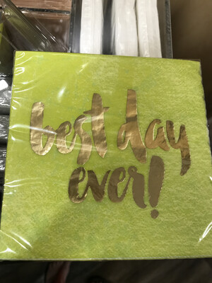 Best Day Ever Cocktail Napkin
