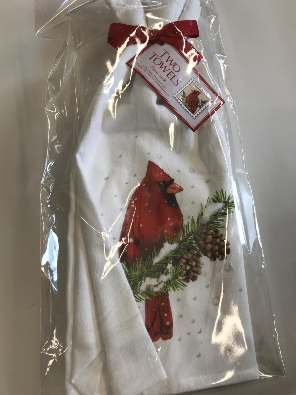 Cardinal Pine Towel Set