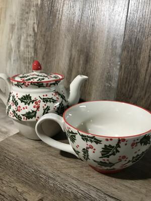Teapot w/Mug