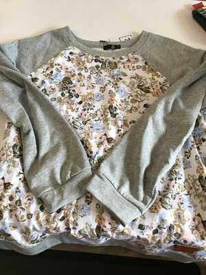 Grey Floral Front 2XL