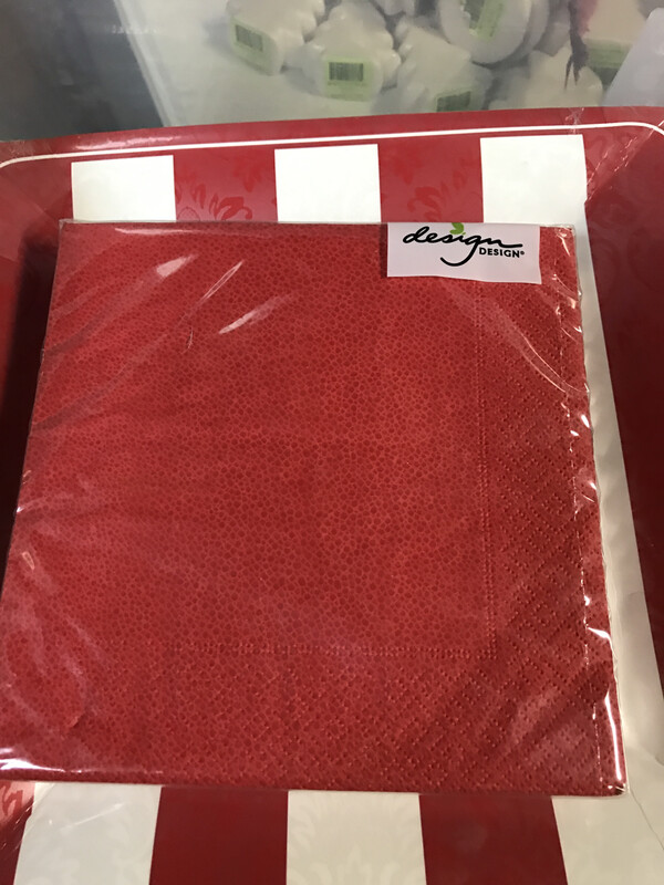 Luncheon Napkin Pebble Red