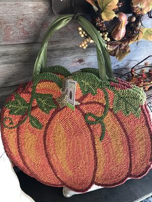 Pumpkin Hooked Door Decor