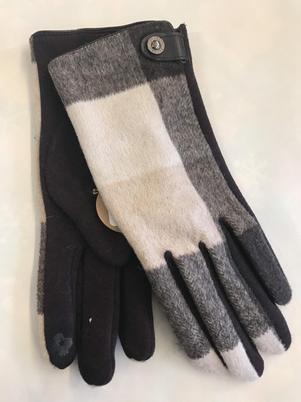 Brown Plaid Glove