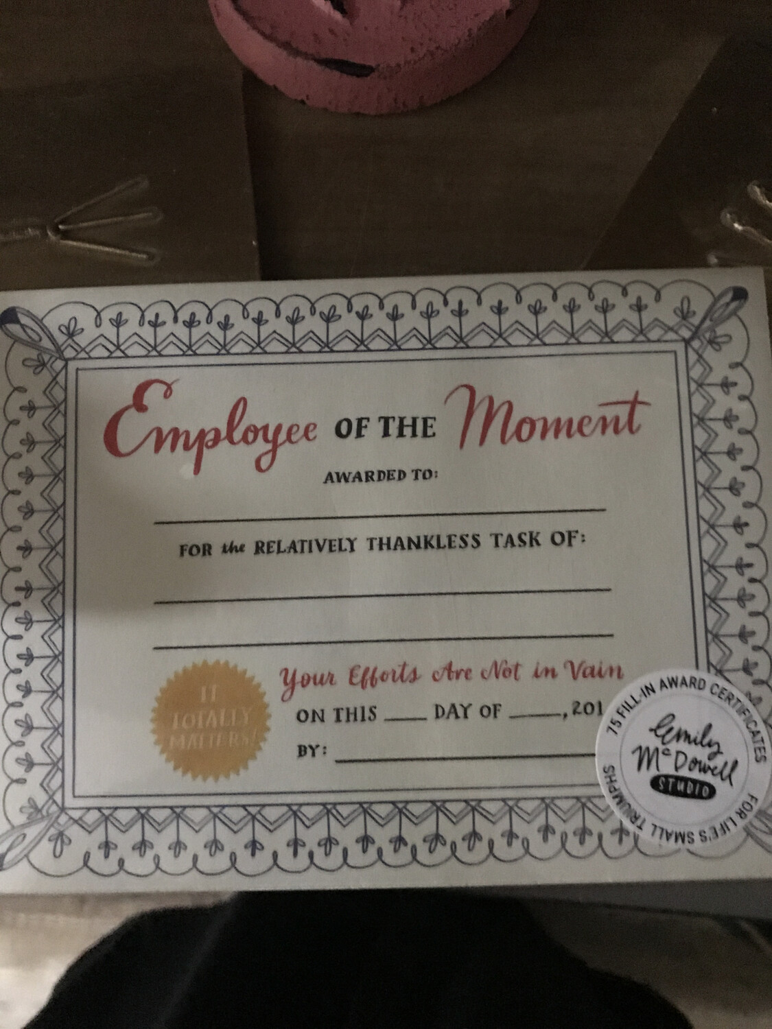 Employee of the Moment
