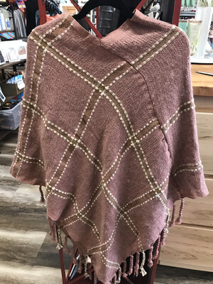 Blush Plaid Poncho