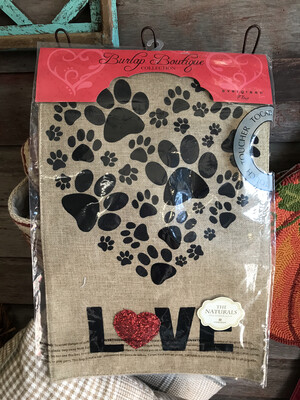 Paw Prints Flag