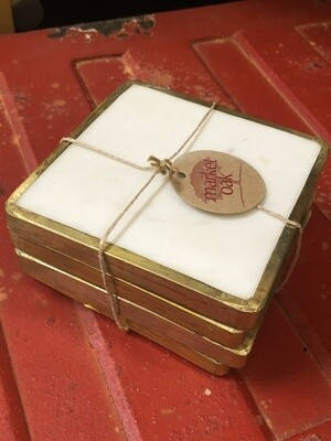 Brass Marble Coasters