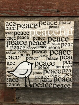 Peace w\Bird Sign