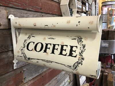 2 Sided Coffee Sign