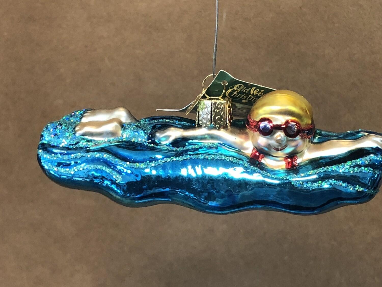 Swimming Glass Orn