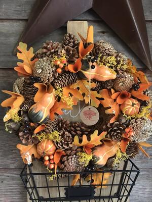 """14"""" Sparkle Gourd Wreath"""