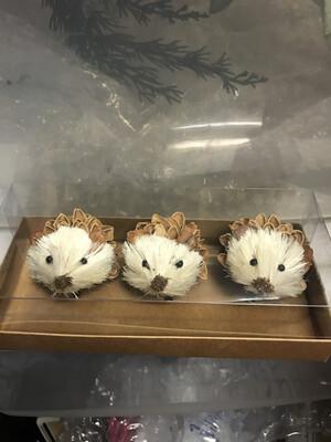 Set/3 Sisal Hedgehog