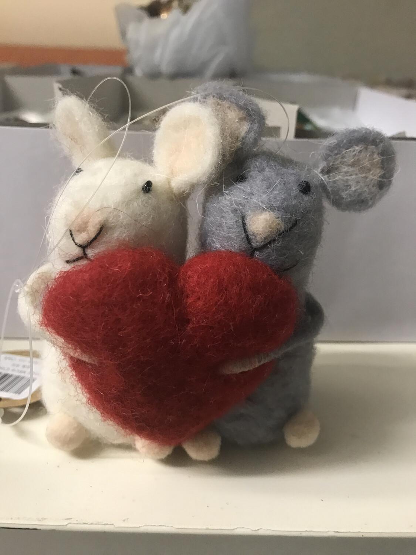 Wool Mice Couple