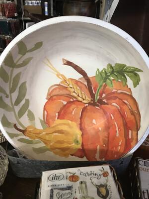 LG Wooden Pumpkin Bowl