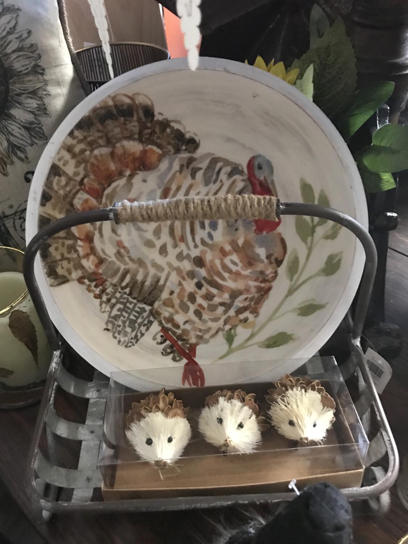 LG Wooden Turkey Bowl