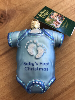 Baby's 1st Blue Onesie