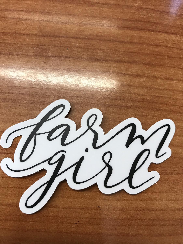 Farm Girl Sticker