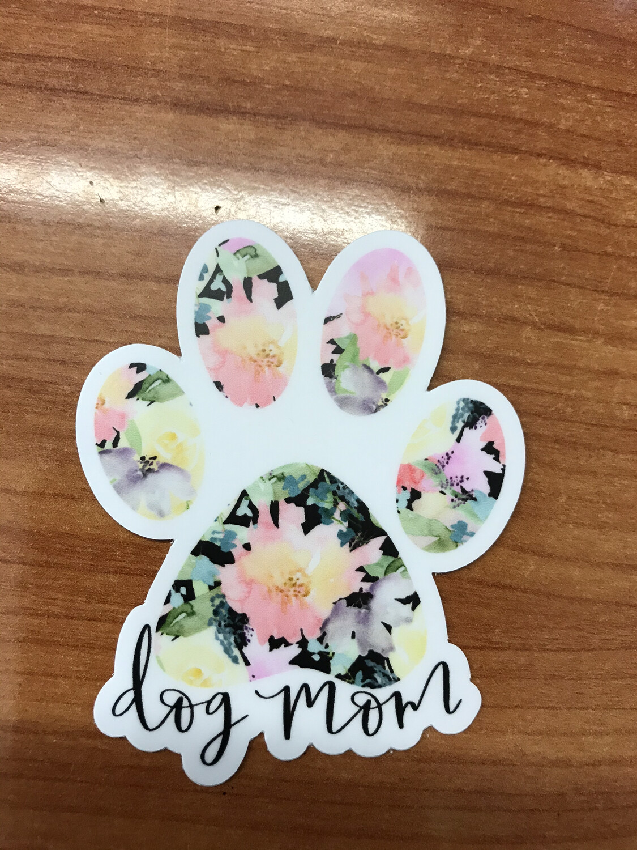 Floral Dog Mom Sticker