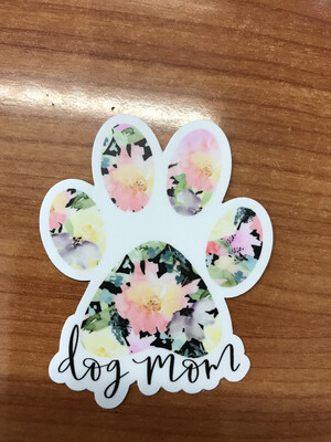 Floral Dog Mom Sticker