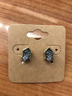 Druzy Stud Earring