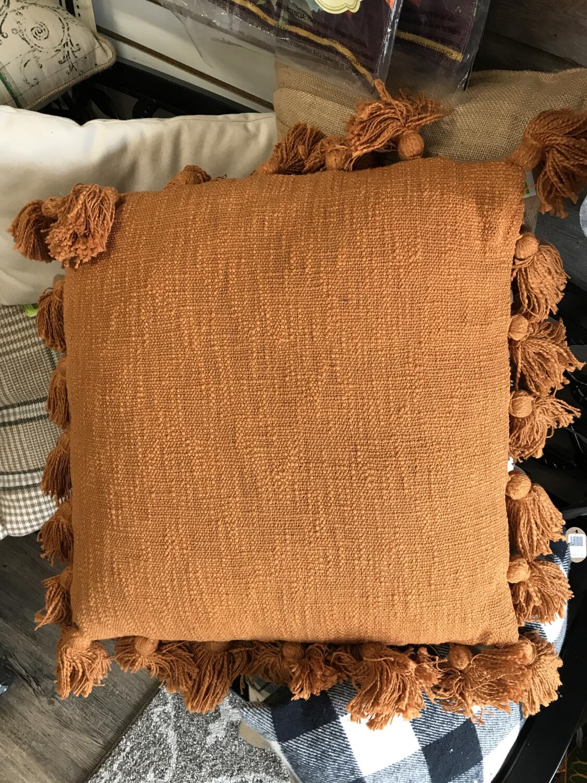 Cinnamon Tassel Pillow
