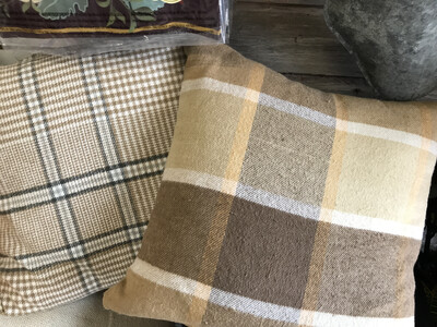 Brushed Plaid Pillow