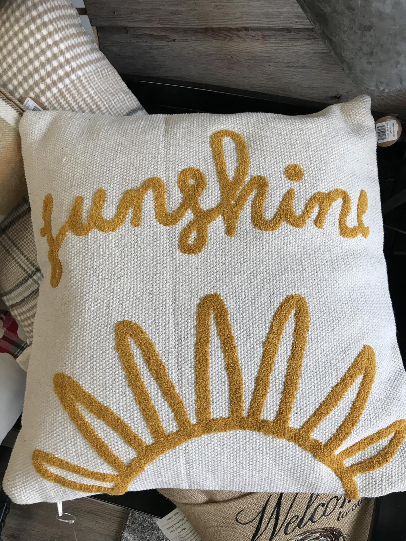 Woven Sunshine Pillow