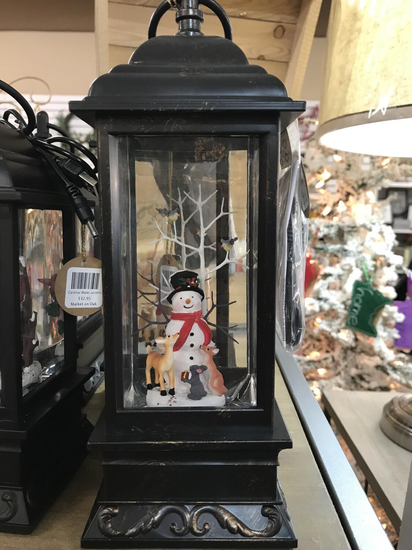 """11"""" Snowman Musical Lantern"""