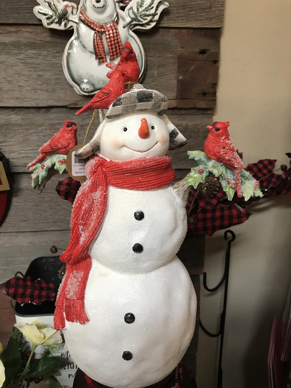 """14.5"""" Glistening Snowman"""