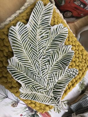 Stoneware Pine Tray
