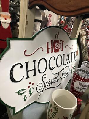 Hot Chocolate Enamel Sign