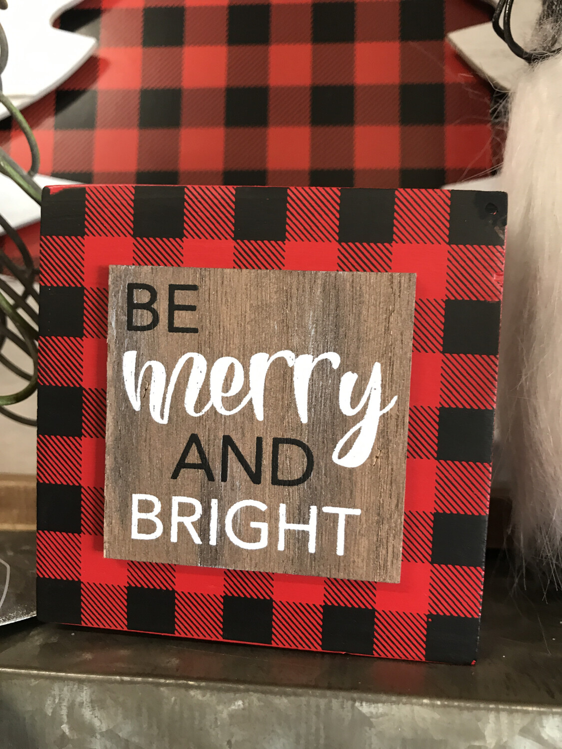 Be Merry 3D Box Sign